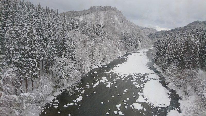 Akita, Transportation, The Akita Nairiku Line in Winter